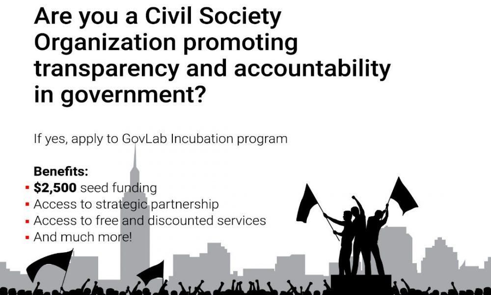 GovLab Incubation Program 2021 for Civil Society Organizations and Innovators in Nigeria (Up to $2,500 grant)