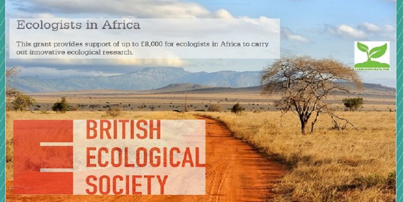 British Ecological Society (BES) Ecologists in Africa Grants 2021 (Round 2)