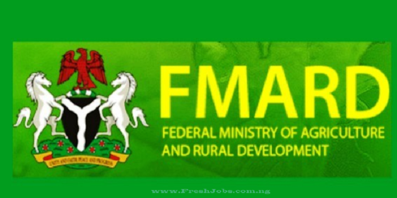Federal Ministry of Agriculture & Rural Development (FMARD) Recruitment for State Agribusiness Promotion Officer