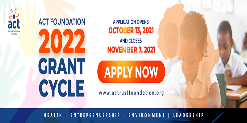 ACT Foundation Grant 2022 for Non-profit Organizations and Social Enterprises in Africa