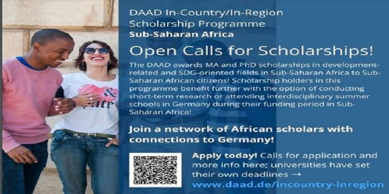 DAAD In-Country/In-Region Scholarship Programmes 2021/2022 for graduates & postgraduates from Sub-Saharan Africa